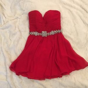 Jovani Red Short Prom Dress